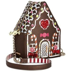 Betsey Johnson Gingerbread House Crossbody Purse
